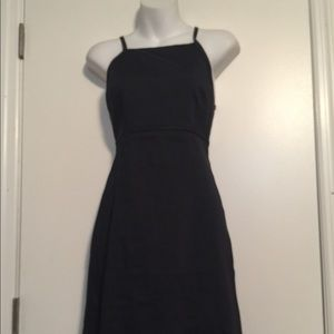 Theory navy Strap Criss -Cross back dress.